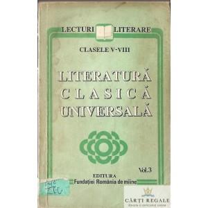LITERATURA CLASICA UNIVERSALA VOLUMUL 3