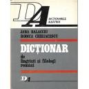 DICTIONAR DE LINGVISTI SI FILOLOGI ROMANI de JANA BALACCIU, RODICA CHIRIACESCU