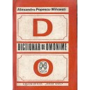 DICTIONAR DE OMONIME de ALEXANDRU POPESCU-MIHAESTI