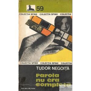 PAROLA NU ERA COMPLETA de TUDOR NEGOITA