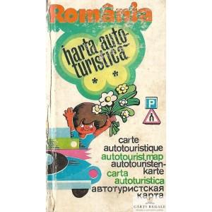 ROMANIA. HARTA AUTO-TURISTICA de DEM POPESCU