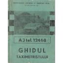 GHIDUL TAXIMETRISTULUI  1986