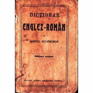 DICTIONAR ENGLEZ-ROMAN 1942 de MARCEL SCHONKRON