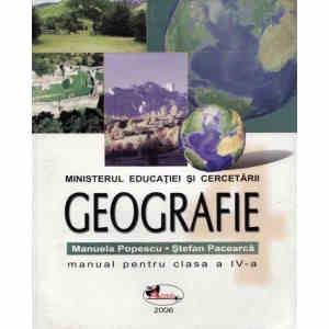 Manual GEOGRAFIE CLS A IV A ED. ARAMIS de MANUELA POPESCU