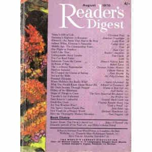 READER'S DIGEST AUGUST/1970