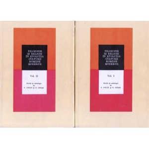 FILOZOFIE SI RELIGIE IN EVOLUTIA CULTURII ROMANE MODERNE de S. GHITA si D. GHISE 2 VOLUME