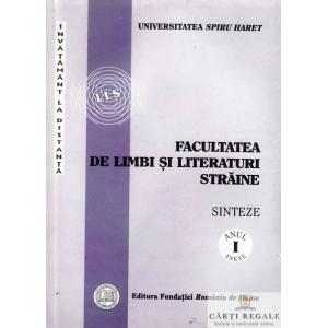 FACULTATEA DE LIMBI SI LITERATURI STRAINE. INVATAMENT LA DISTANTA. SINTEZE