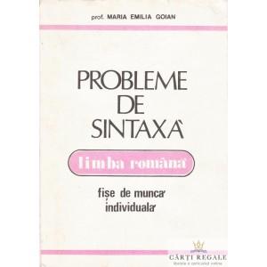 PROBLEME DE SINTAXA de MARIA EMILIA GOIAN