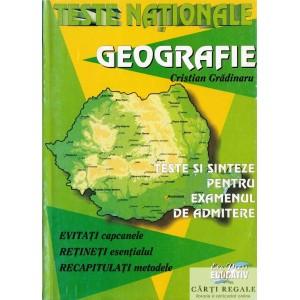 GEOGRAFIE. TESTE NATIONALE de CRISTIAN GRADINARU