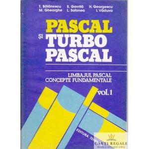PASCAL SI TURBO PASCAL de T. BALANESCU 2 VOLUME