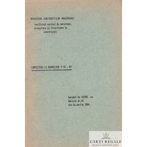COMPLETARI LA NORMATIVUL P91-83