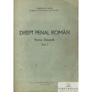 DREPT PENAL ROMAN. PARTEA GENERALA 2 VOLUME de CONSTANTIN BULAI
