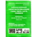 CALIFICAREA PROFESIONALA LUCRATOR IN PRELUCRARE CARNE, PESTE, LAPTE CONSERVE CLASA A X A de BRANZARU IOANA