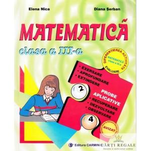MATEMATICA. MANUAL PT CLASA A III A de ELENA NICA ED. CARMINIS