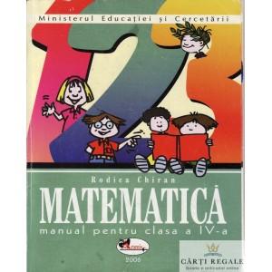 MATEMATICA. MANUAL PT CLASA A IV A de RODICA CHIRAN ED. ARAMIS
