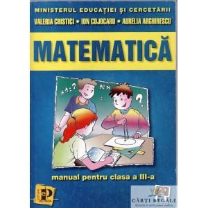 MATEMATICA. MANUAL PT CLASA A III A de VALERIA CRISTICI